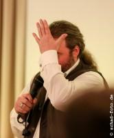 """Tommy Krappweis stellt sein neues Buch """"Ghostsitter"""" den RingCon Besuchern vor., Foto: Tobias Schad"""