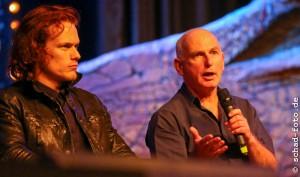 Sam Heughan (Jamie Fraser), Gary Lewis (Collum MacKenzie), Foto: Tobias Schad