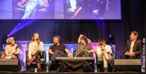 Amrita Acharia (Irri), Gemma Whelan (Yara Greyjoy), Ian Beattie (Ser Meryn Trant), Finn Jones (Loras Tyrell), Jack Gleeson (Joffrey Baratheon), Mark Ferguson, Foto: Tobias Schad