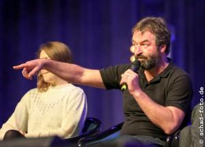 Gemma Whelan (Yara Greyjoy), Ian Beattie (Ser Meryn Trant), Foto: Tobias Schad