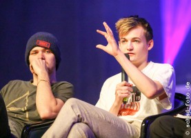 Finn Jones (Loras Tyrell), Jack Gleeson (Joffrey Baratheon), Foto: Tobias Schad