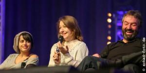 Amrita Acharia (Irri), Gemma Whelan (Yara Greyjoy), Ian Beattie (Ser Meryn Trant), Foto: Tobias Schad