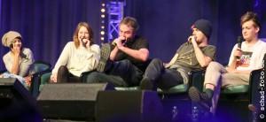 Amrita Acharia (Irri), Gemma Whelan (Yara Greyjoy), Ian Beattie (Ser Meryn Trant), Finn Jones (Loras Tyrell), Jack Gleeson (Joffrey Baratheon), Foto: Tobias Schad
