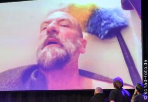 Das große Panel von Mark Hadlow, Stephen Hunter, Adam Brown und Jed Brophy, Foto: Tobias Schad