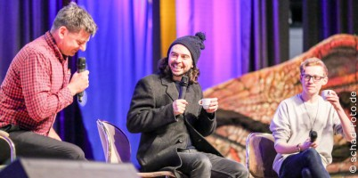 Panel John Bell (Bain) und Ryan Gage (Alfrid), Foto: Tobias Schad