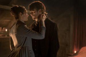 Claire und Jamie in der Druckerei